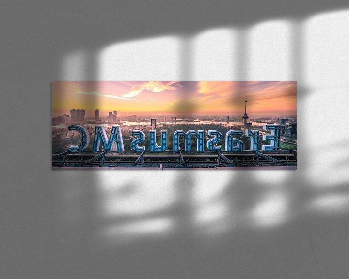 Impression: Erasmus MC et le ciel de Rotterdam (panorama) sur Prachtig Rotterdam