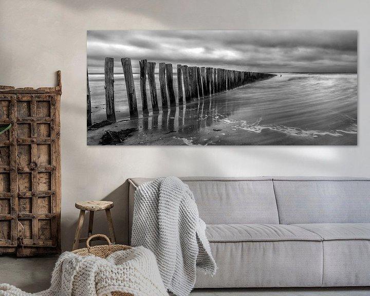 Sfeerimpressie: Cadzand - Stormy Beach (ZW) van Joram Janssen