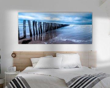 Cadzand - Stormy Beach van Joram Janssen