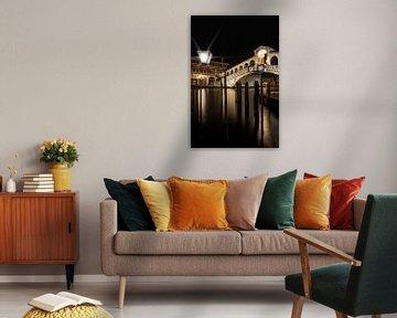 VENEDIG Rialtobrücke bei Nacht sur Melanie Viola