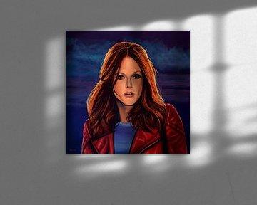 Julianne Moore schilderij von Paul Meijering