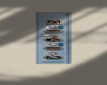 Franse brievenbussen met post van Birgitte Bergman