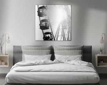 Reuzenrad zwart wit