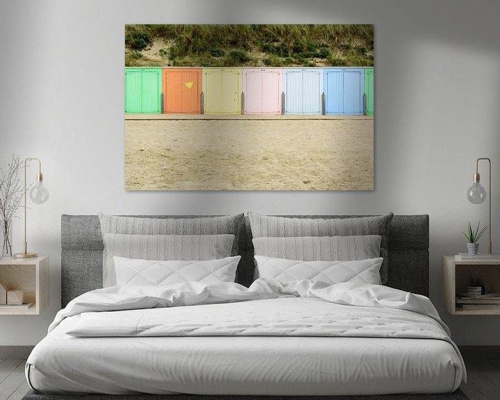 Sfeerimpressie: Strand cabines in de avondzon in Domburg van 7Horses Photography