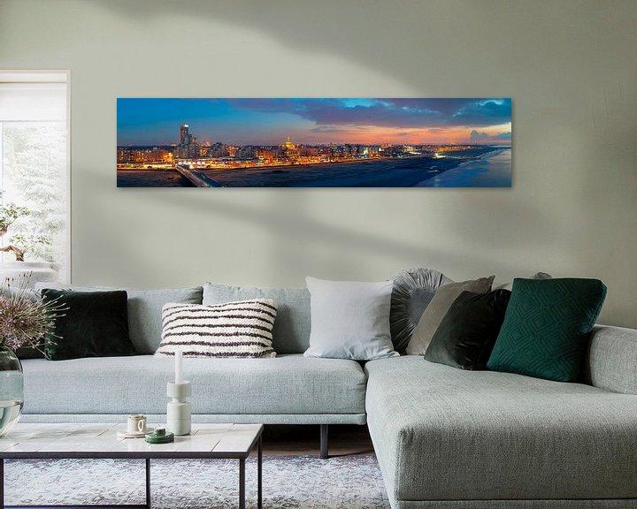 Sfeerimpressie: Panorama strand Scheveningen van Anton de Zeeuw