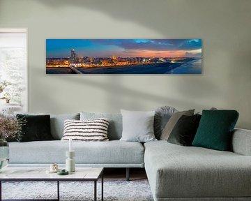 Panorama strand Scheveningen