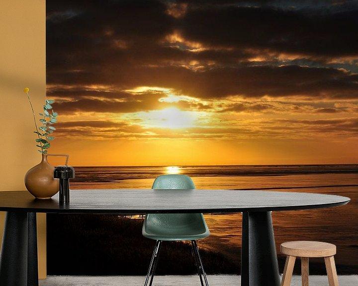 Sfeerimpressie behang: Zonsondergang van Joop Sipkema