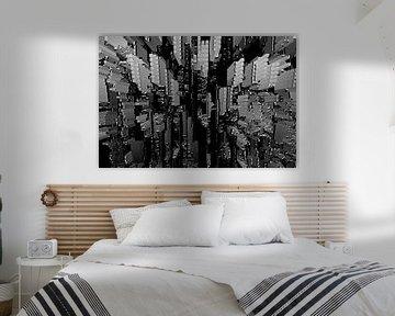 Diepte, ontwerp in zwart wit van Ina Hölzel