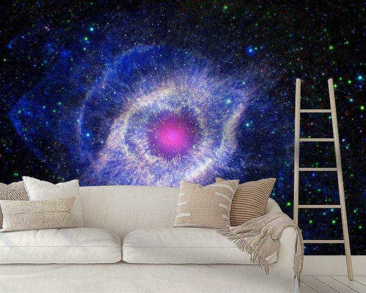 Sfeerimpressie behang: Stervende ster van Space and Earth