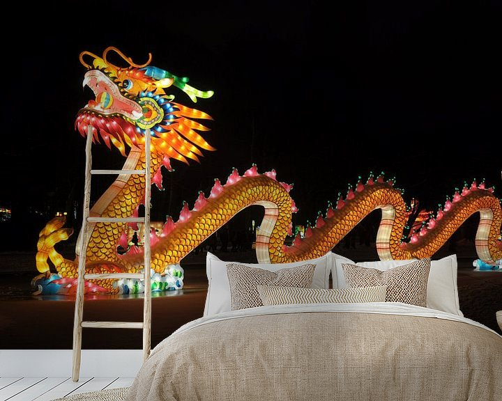 Sfeerimpressie behang: Chinese draak van Rogier Vermeulen