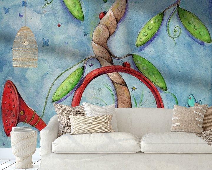 Sfeerimpressie behang: Vrolijke familieboom van keanne van de Kreeke