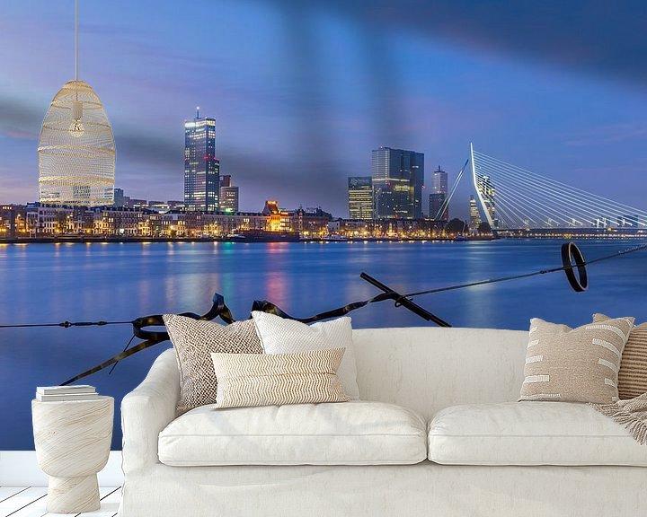 Sfeerimpressie behang: De skyline van Rotterdam van MS Fotografie   Marc van der Stelt