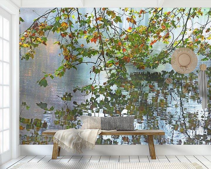 Sfeerimpressie behang: Herfst in Het Park, Rotterdam van Frans Blok