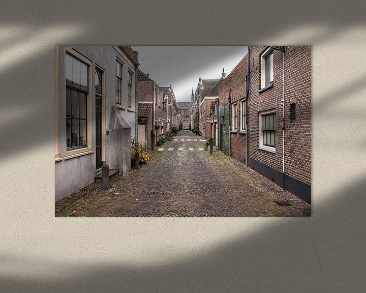 Sfeerimpressie: Oud straatje in Alkmaar van Jaap Mulder