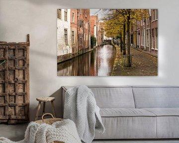 Oude gracht in binnenstad Alkmaar