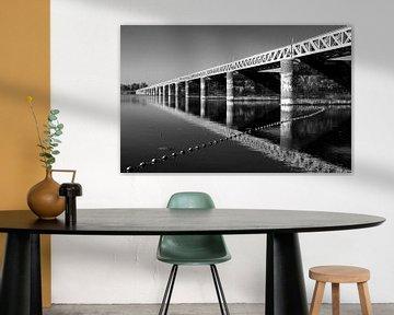Spoorbrug Moerputten (Zwart-wit) von PvdH Fotografie