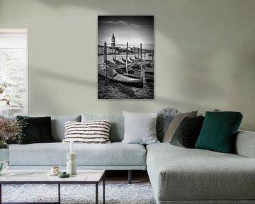 VENEDIG Canal Grande & Markusturm schwarz/weiß von Melanie Viola