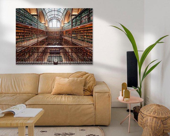 Sfeerimpressie: De bibliotheek / Rijksmuseum / Amsterdam van Rob de Voogd / zzapback