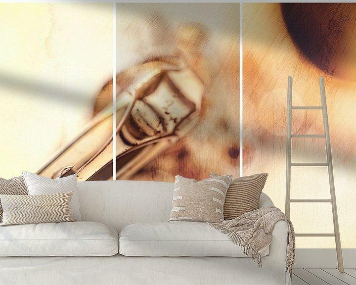 Sfeerimpressie behang: When I need Sax I call .....(II) van Bob Daalder