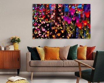 Lichtgevende bloemen von Floris den Ouden
