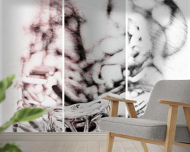 Sfeerimpressie behang: Parker's Mood van Bob Daalder