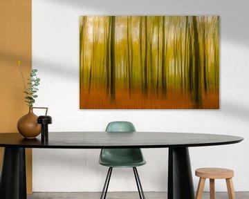 Abstract herfstbos von Sjoerd van der Wal