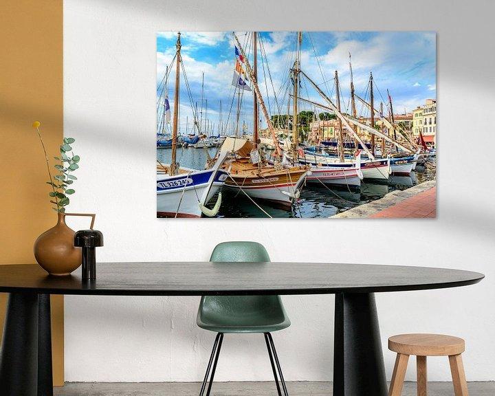 Impression: Traditional boats in port of Sanary-sur-Mer , Var, France sur 7Horses Photography