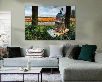 Tulpenvelden en schilders... van Hans Brinkel