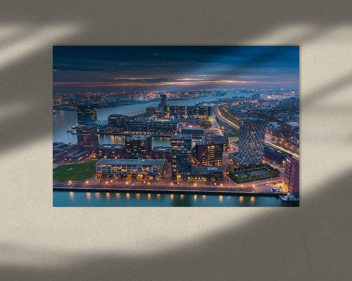 Sfeerimpressie: Rotterdam night lights van Ilya Korzelius