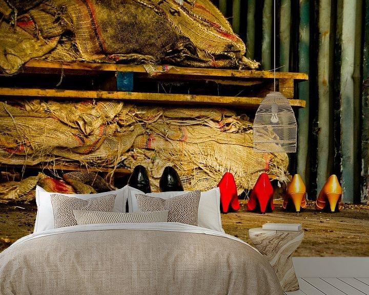 Sfeerimpressie behang: Germany colors (black, red and gold) van Norbert Sülzner