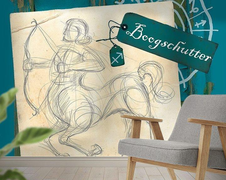 Sfeerimpressie behang: Boogschutter van Studio Zes