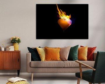 burning heart (6) van Norbert Sülzner