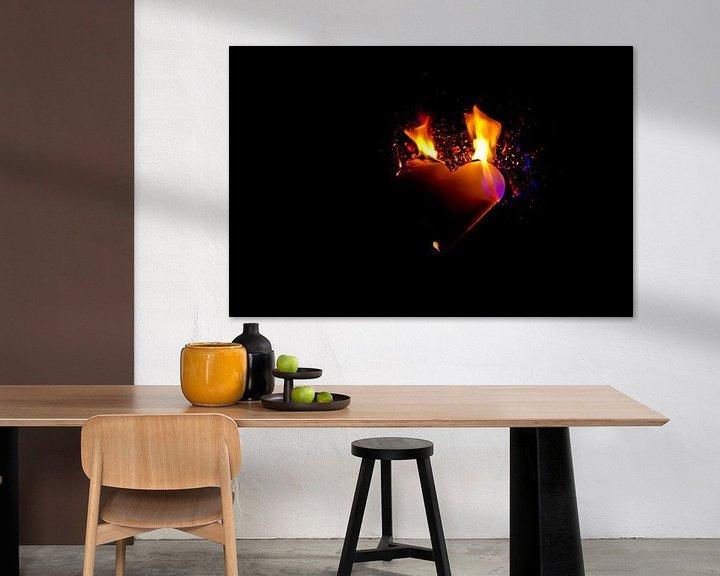 Sfeerimpressie: burning heart (8) van Norbert Sülzner