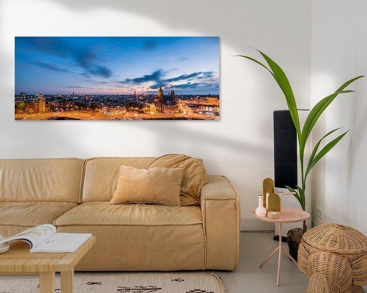 Beispiel: Panorama: Blick auf Amsterdam von John Verbruggen