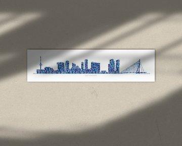 Rotterdam skyline van Harry Hadders