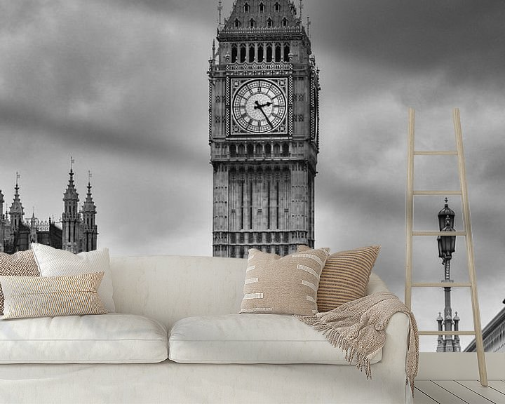 Sfeerimpressie behang: Big Ben Londen van Jaco Verheul
