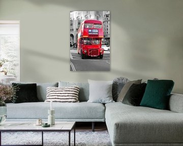 Oude dubbeldekker bus in Londen von Jaco Verheul