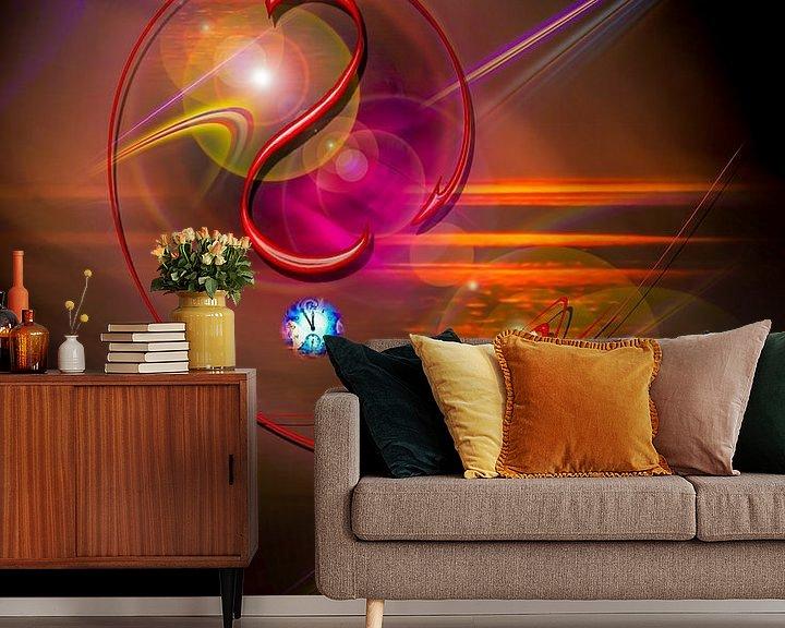 Sfeerimpressie behang: Licht und Energie ist Magie van Walter Zettl