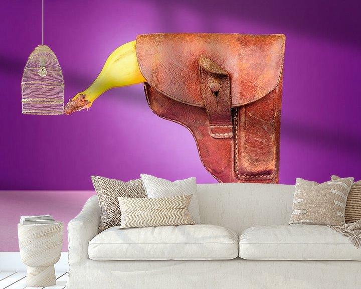 Sfeerimpressie behang: Banaan schutter van Steve Van Hoyweghen