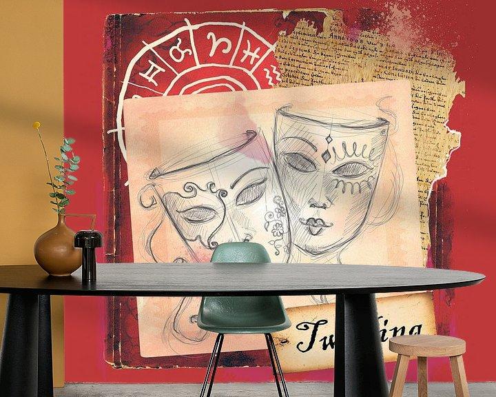 Sfeerimpressie behang: Tweeling van Studio Zes