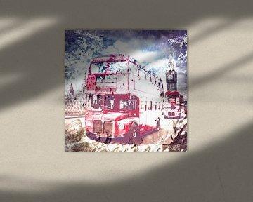 City-Art LONDON Red Buses on Westminster Bridge von Melanie Viola