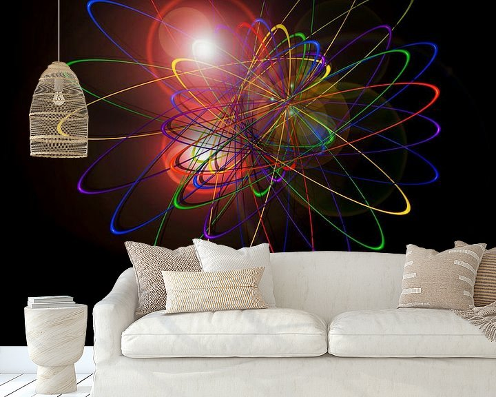 Sfeerimpressie behang: Licht en Energie is Magie 2 van Walter Zettl