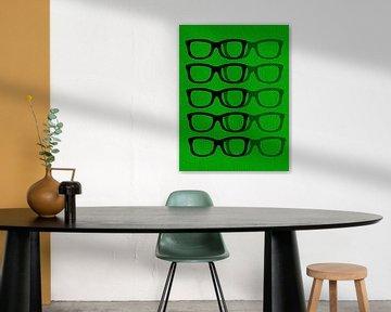 Glasses Black & Green von Mr and Mrs Quirynen