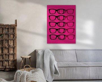 Glasses Black & Pink von Mr and Mrs Quirynen