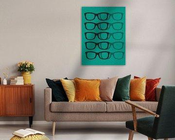 Glasses Black & Blue von Mr and Mrs Quirynen