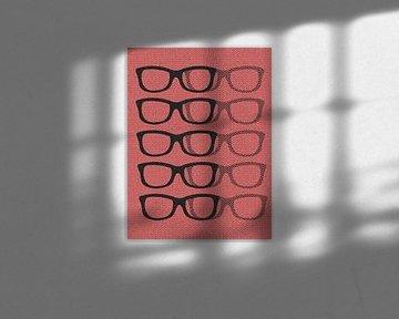Glasses Black & Softpink von Mr and Mrs Quirynen