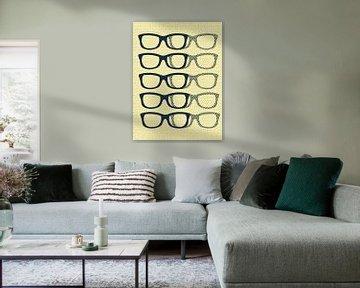 Glasses Black & Cream von Mr and Mrs Quirynen