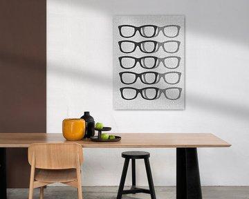 Glasses Black & White von Mr and Mrs Quirynen