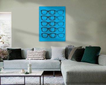 Glasses Black & Blue2 von Mr and Mrs Quirynen