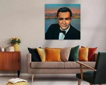 Sean Connery as James Bond schilderij von Paul Meijering